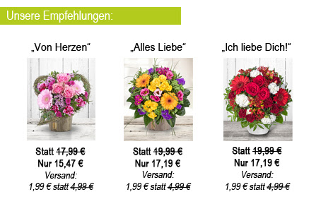 Blumenangebot von Valentins